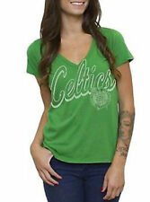 T-Shirts New Authentic Junk Food NBA Boston Celtics Juniors V-Neck T-Shirt