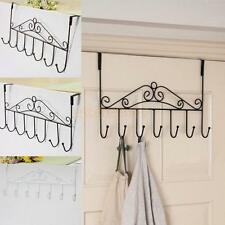 Over Door Hanger Hat Clothes Coat Towel Bag Hanging Rack Holder 7 Hooks 3 Colors