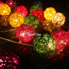 20 Ball String Light Cotton White Party Patio Wedding Fairy Decor Christmas Tone