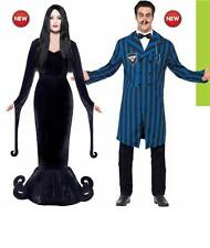 Mens/ Ladies Halloween Fancy Dress Costume Duke & Duchess Morticia & Gomez