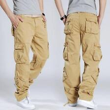 Hot Losse Overalls Casual Cargo outdoor Mens slacks Pants work Trousers 27-44