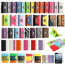 360 Rotating Leather Case Smart Cover Swivel Stand For iPad Mini 1 2 Retina 3