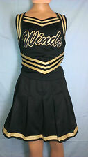 Cheerleader Uniform Fancy Black WindsHalloween Dance Costume Adult