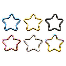 Cartilage Nose Piercing - 18ga Star Shaped Split Ring - Perfect For Nose, Rook