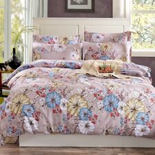 Cotton Floral Quilt Doona Duvet Cover Set Single Queen King Size Bed Covers New