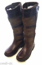 Shires Broadway Long Leather Waterproof Country Boots UK 5  EURO 38  BROWN XW