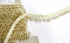 10mt delicate cream pink beaded tassel curtan fringe 2.4cm fabric trim trimming