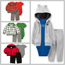 NWT Carters Baby Boys 3pc Clothing Sets Cardigan Fleece Outfits Newborn - 24m
