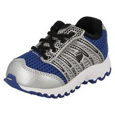 Boys K Swiss Blue,Black,Silver leather/mesh trainer TUBES RUN 100