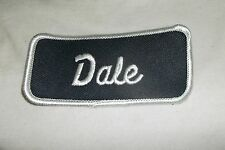 DALE USED EMBROIDERED VINTAGE SEW ON NAME PATCH TAG ASSORTED COLORS