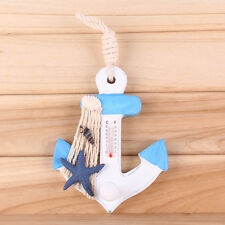 Cute Shabby Nautical Thermometer Wooden Props Wall Hanger Hooks Home Decor