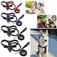 Pet Dog Cat Adjustable Jean Leash Traning Harness Lead Collar Safety Control Set