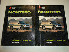 1999 MITSUBISHI Montero Service Repair Shop Workshop Manual SET FACTORY OEM