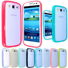 FOR Samsung Galaxy S3 III i9300 New Glossy Frame Bumper Silicone Gel Case Cover