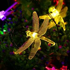 20 LED Outdoor Dragonfly Solar Powered String Light Garden Party Fairy Lamp New