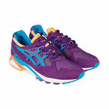 Asics Trainer Mens Purple Suede Lace Up Sneakers Shoes