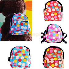 NEW Pet Dog Outdoor Travel Backpack Hiking Leashes Puppy Dot Back Pack Dot Bag