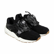 Puma Disc Blaze Felt Mens Black Textile Slip On Sneakers Shoes