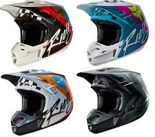 NEW 2017 FOX RACING V2 ROHR MX DIRT BIKE MOTOCROSS HELMET BLACK/GREY ALL SIZES