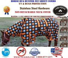 Horse Bug Mosquito Fly Sheet Summer Spring Airflow Mesh UV Neck 73136