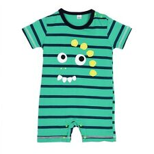 Infant Romper Baby Boys Girls Cartoon Animal Romper Striped Cotton Jumpsuit