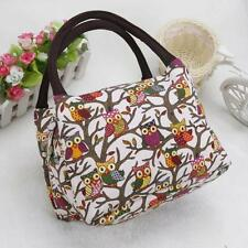 Owl Thermal Insulated Tote Picnic Lunch Cool Bag Cooler Box Handbag Pouch Bags