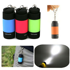 Keychain Mini Torch Light Pocket LED USB Rechargeable Flashlight Keyring