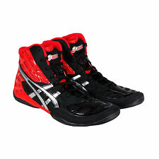 Asics Split Second 9 Mens Red Black Synthetic Athletic Lace Up Training Shoes