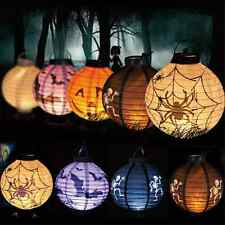 LED DIY Halloween LED Paper Pumpkin Hanging Lantern Holiday Party Decor Scary