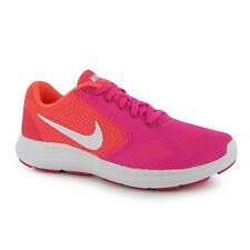 Nike Revolution Running Shoes Womens Pink/White Run Fitness Trainers Sneakers