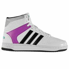 Adidas Hoopster Mid Cut Basketball Trainers Womens White/Black Sneakers Shoes