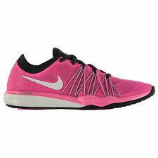 Nike Dual Fusion TR HIT Running Shoes Womens Pink/White Run Trainers Sneakers