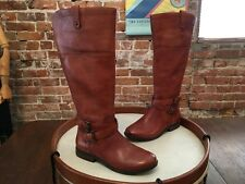 Marc Fisher Med Brown Leather Wide Calf Riding Boots NEW Audrey