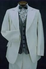 VINTAGE TEXTURED IVORY AFTER SIX 4pc TUXEDO OR RETRO TUX JACKET PROM PARTY
