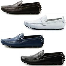 Mens Casual Leather Slip On Loafers Shoes Driving Moccasin-gommino Shoes new
