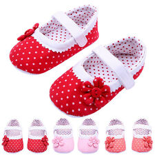 Sweet Cute Girls Flower Soft Sole Toddler PU Leather Crib Shoes Baby Shoes