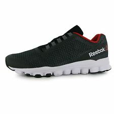 Reebok HexAffect Storm Running Shoes Mens Black/Grey/Red Trainers Sneakers