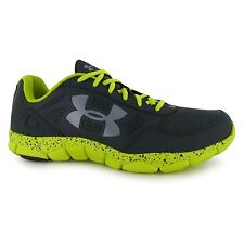 Under Armour Micro Engage 2 Running Shoes Mens Grey/Flash Trainers Sneakers