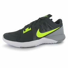 Nike FS Lite Training Shoes Mens Grey/Volt Sports Fitness Trainers Sneakers