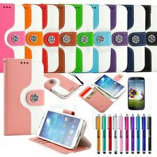 Fashion Wallet Flip Stand PU Leather Case Pouch Cover For Samsung Galaxy S 4 IV