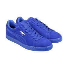 Puma Suede Classic+ ICED Mens Blue Suede Lace Up Sneakers Shoes
