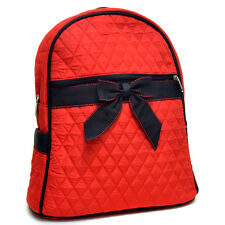 Quilted Mini Backpack With Convertible Shoulder Straps & Removable B