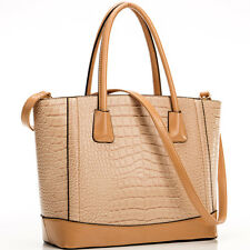 New Womens Handbags Faux Croco Leather Tote Bag Satchel Shoulder Bags Purse
