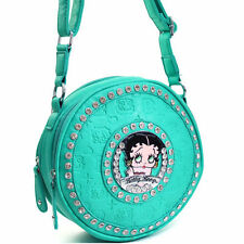 Betty Boop® Purse Women Cross Body Bag Cylinder Messenger Bag With Rhinestones