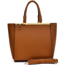 New Womens Handbags Leather Satchel Tote Shoulder Bag Large Purse Of 2 Materials