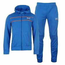 Everlast Lined 2 Piece Tracksuit Set Jacket Pants Mens Blue Track Top Bottoms