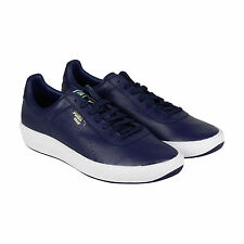 Puma Star Mens Blue Leather Lace Up Sneakers Shoes