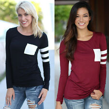Fashion Women Ladies Casual Loose Tops Long Sleeve T-shirt Summer Blouse Top UK