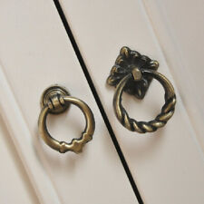 2Pcs Vintage Cabinet Knobs Cupboard Drawer Dresser Door Drop Ring Pull Handle