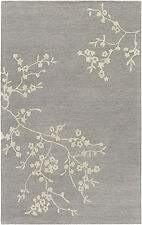 RUGS FLORAL RUGS  AREA RUGS CARPET FLORAL RUGS GRAY RUGS DECOR WOOL RUGS